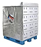 Pallet Cover, Insulated, 48 In D x 40 In L