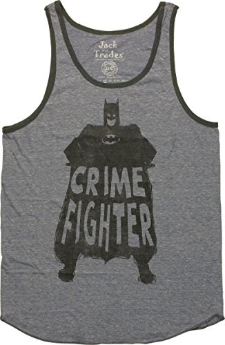 Batman Crime Fighter Stance Tank Top, - Batman Crime Fighter