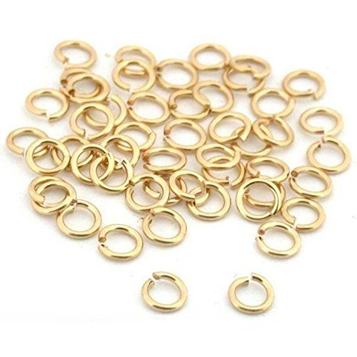 - 25 Jump Rings 14K Gold Filled Open Jewelry 22 Gauge 3mm