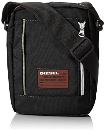 Diesel Back On Track K-Two II Cross Body Bag,Jet Black,One Size