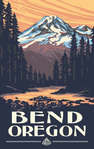 Northwest Art Mall Bend Oregon Mountain Sunset Unframed Prints by Paul A Lanquist, 11-Inch by ()