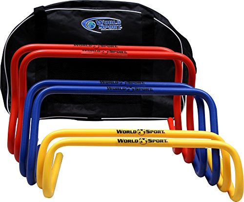 World Sport Set Agility Hurdle Multi Set with Carry Bag