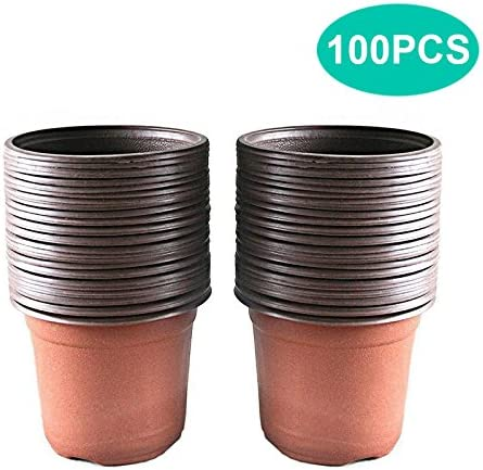 100pcs Plastica Giardino Vivaio Pentole Vaso di Fiori Seedlings Contenitori Au