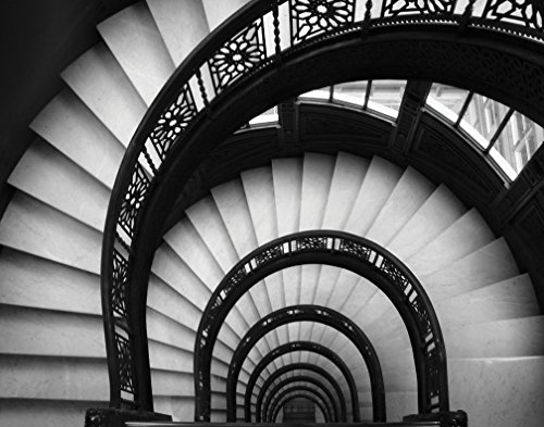 Rookery Stairwell Classy Spiral Retro Lovely Beautiful Photo Classic Staircase Fly Poster 20X16