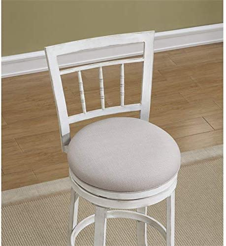 BOWERY HILL 26 Swivel Counter Stool in Antique White