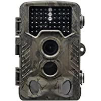 TOP-MAX Trail Camera, 1080P HD 16MP Wildlife Hunting Camera IP56 Waterproof Scouting Game Camera with No Glow Infrared Night Version 20M 120°Wide Angle,PIR Sensor Great for Outdoor Animal