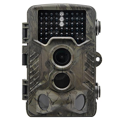 TOP-MAX Trail Camera,1080P 16MP Digital Wildlife Hunting Game Camera IP56 Waterproof Trail Cam with 120° PIR Sensor No Glow Infrared Night Version Motion Activated for Wildlife and Home Security