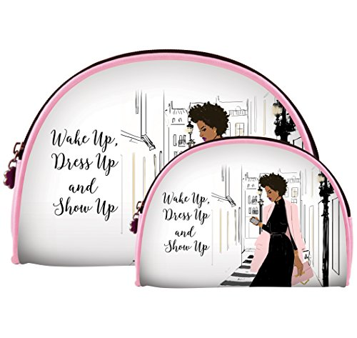 African American Expressions - Wake Up, Dress Up and Show Up Cosmetic Bags (Set of two) COS-15