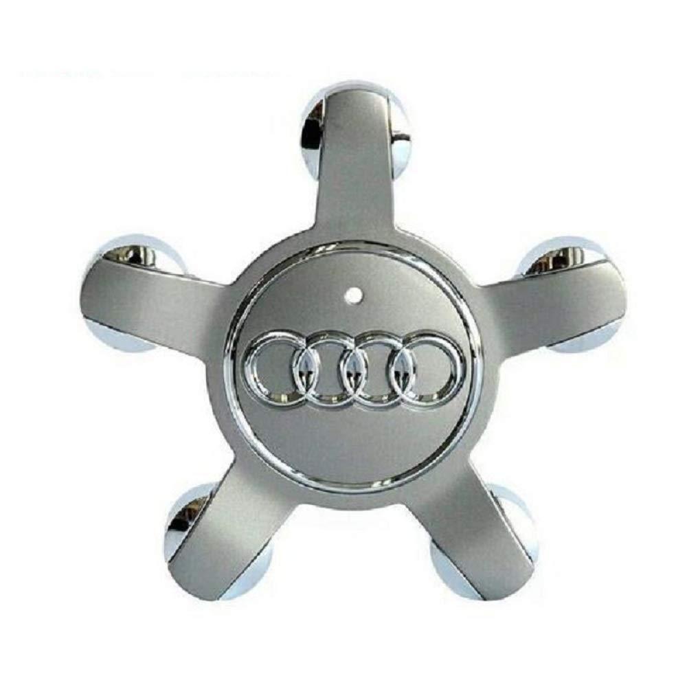 135mm//5.3in Car Wheel Center Caps Emblem Rim Center Hubcap Compatible for Audi Q3 Q5 Q7 A4 A5 A6 A7 S4 S6 S8 Homax