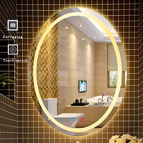 BGJZ Bathroom Mirror with Led Light Wall Mirror Oval Anti Fog & -