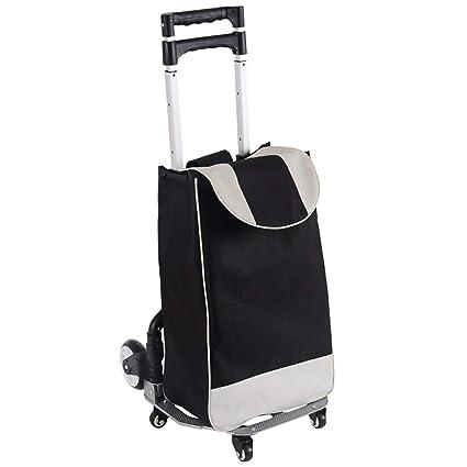 Carrito de compras Carro de la compra Trolley Gran carga plegable 80 kg Capacidad 34.5L 6 Ruedas Adecuado para almacenes ...