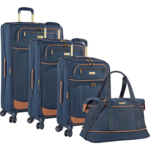 Tommy Bahama Mojito Twist 4 Piece Expandable Spinner Luggage Set (Navy) by TOMMY BAHAMA