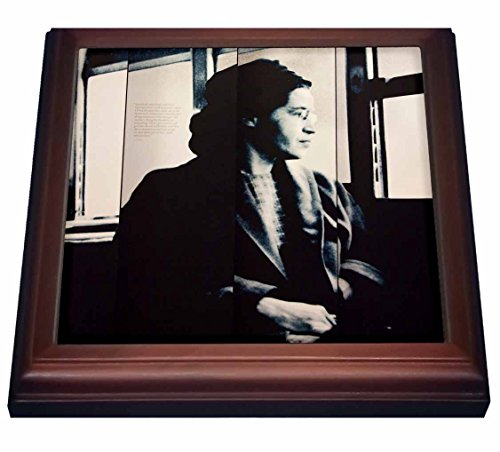 3dRose trv_87308_1 Alabama Montgomery Rosa Parks Museum US01 WBI0226 Walter Bibikow Trivet with Ceramic Tile, 8 x 8