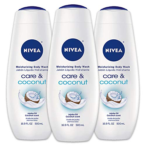 NIVEA Care & Coconut Moisturizing Body Wash - Tropical Scent for Normal Skin - 16.9 fl. oz. Bottle (Pack of - Coconut Body Hydrating Wash