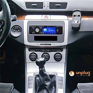 Bluetooth Video Car Stereo with 4-inch Screen and Backup Camera Input - Single Din