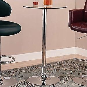 Coaster CO-120341 Bar Table, Chrome