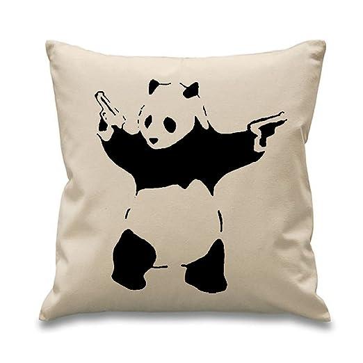 Banksy de oso Panda con pistolas 45,72 cm x 45,72 cm relleno ...