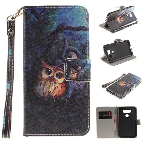 Lomogo LG G5 Leather Wallet Case with Kickstand