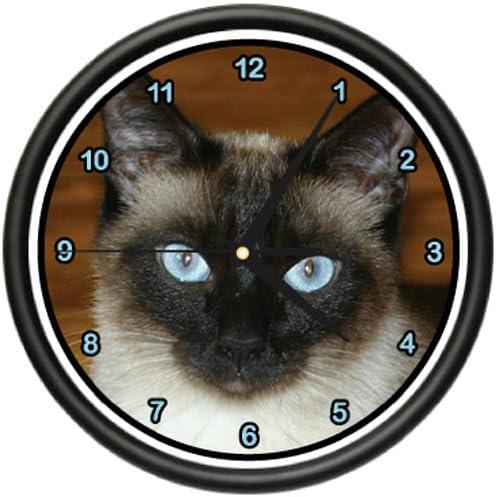 Siamese CAT Wall Clock Cats Kitten Owner Breeder Gift