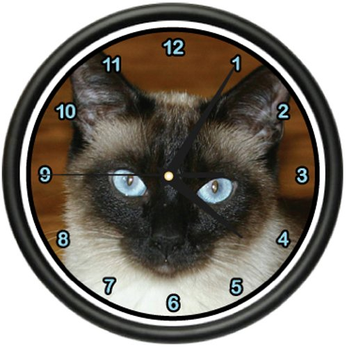 Siamese CAT Wall Clock Cats Kitten Owner Breeder Gift