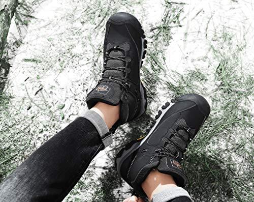 AX BOXING Bottes Homme Hiver Bottines Randonnée Trekking Chaudes Fourrées Chaussures Taille 41-46 7