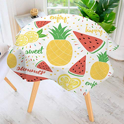 Cheap  PRUNUS Round Tablecloth-Summer and Sweet Fruits Background for Package Design Wallpaper Waterproof..