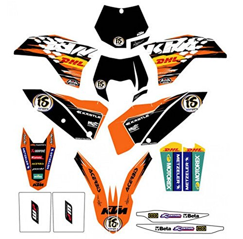 NEW KTM FACTORY ENDURO GRAPHICS SX XC EXC SXF XCW SMR XCF 2007-2011 78008190000 by KTM