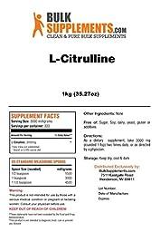 BulkSupplements Pure L-Citrulline Powder (1 Kilogram)