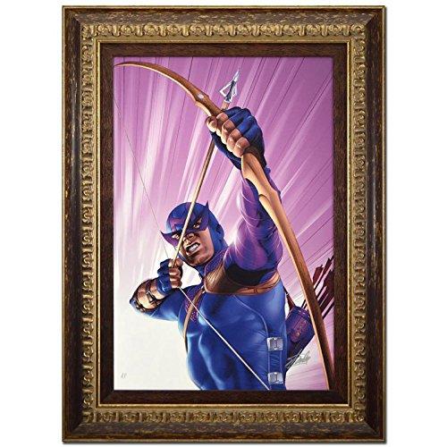 - STAN LEE signed HAWKEYE Marvel ORIGINAL COMIC Artwork CANVAS Avengers Iron