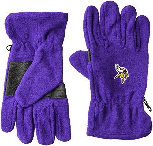 Glove Minnesota Vikings (OTS NFL Minnesota Vikings Male Fleece Gloves, Purple, Men's)