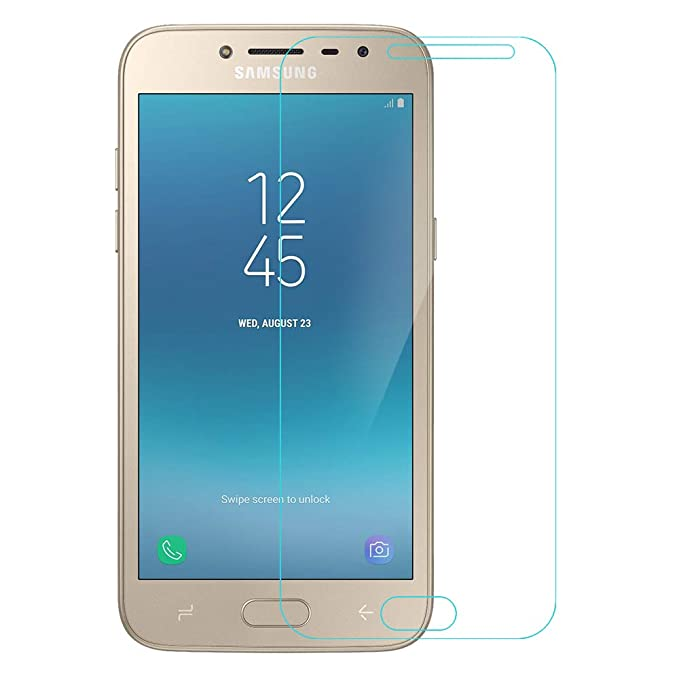 Amazon Brand   Solimo Tempered Glass for Samsung Galaxy J2  2018  with Installation Kit  Clear  Screen guards