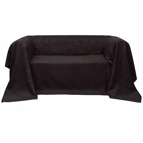 taofuzhuang Funda marrón para sofá de Micro-Gamuza, 210 x ...