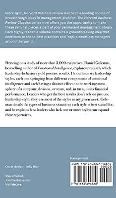 Leadership That Gets Results Harvard Business Review Classi Goleman Daniel Amazon Com Au Books