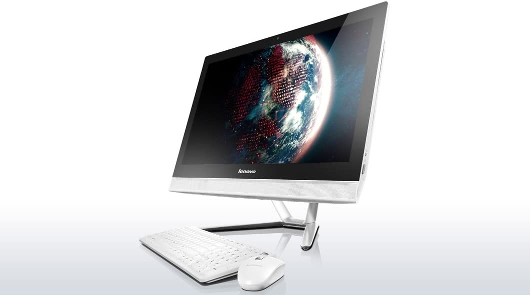 "Lenovo C50-30 - F0B100KWUS - 23"" Multi- touch screen All-in-One computer - Intel Core i5-5200U (2C, 2.2 / 2.7 GHz, 3MB, 1600MHz) - 8GB RAM - 1TB HDD - Windows 10 home - White"