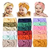 18PCS Baby Nylon Headbands Hairbands Hair Bow Elastics for Baby Girls Newborn Infant Toddlers Kids (Set-18) (Color: Set-18, Tamaño: One Size)