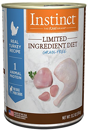 Instinct Limited Ingredient Diet Grain Free Real Turkey Recipe Natural Wet Canned Dog Food by Nature's Variety, 13.2 oz. Cans (Case of 6)