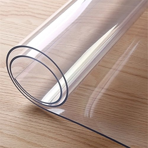 Round Clear Plastic Tablecloth Pvc Waterproof Kitchen Dining Glass