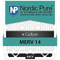 Nordic Pure 20x22x1 MERV 14 Plus Carbon AC Furnace Filters Qty 6
