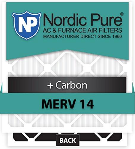 Nordic Pure 13x21x1ExactCustomM14+C-6 Merv 14 + Carbon AC Furnace Filter, 6 Piece