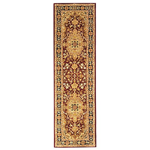 Safavieh Heritage Collection HG760B Handcrafted Traditional Oriental Red and Black Wool Runner (2'3