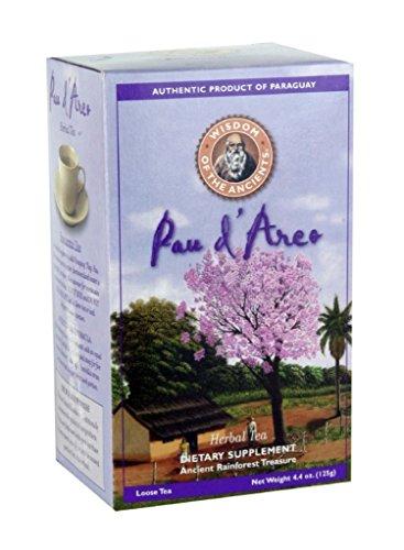 Мудрость Древних Pau D 'Arco (фиолетовый Лапачо) травяной чай, рассыпной чай, 4,4 унции коробки