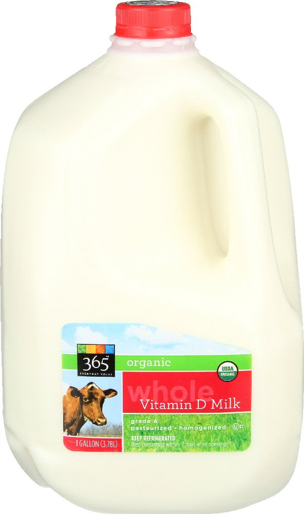 365 Everyday Value, Organic Whole Milk, 128 oz