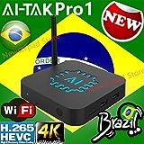 AI-TAK PRO 4K Ultra HD grátis para Sempre Edition TEM mais de 300 canais de TV, 100 canais adultos 30mil filmes 20mil série UHD e Bluetooth, Android 6.0 e muitos canais de entretenimento (ai tak pro)