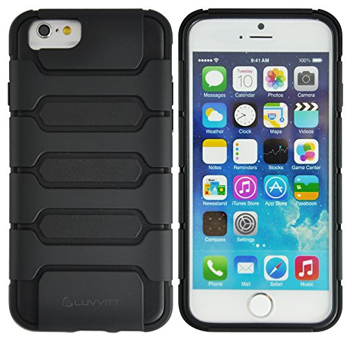 LUVVITT Armor Shell Double Layer Shock Absorbing Case for iPhone 6 / 6S - Black