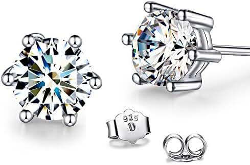 T400 Jewelers 925 Sterling Silver Cubic zirconia Stud Earrings
