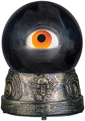 UHC Creepy Animated Eyeball Crystal Ball Horror Party Halloween Decoration ()