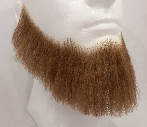 Beard Full Light (Full Character Beard LIGHT BROWN - 100% Human Hair - no. 2024 - REALISTIC! Perfect for Theater and Stage - Reusable!)