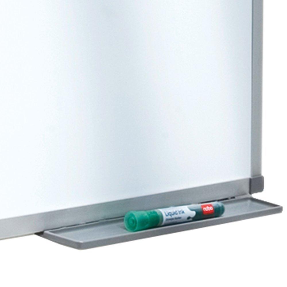 Bianco 1905202 Non Magnetica Nobo Basic Lavagna Bianca in Melammina 900 X 600 mm Kit di Montaggio Incluso Cornice in Alluminio