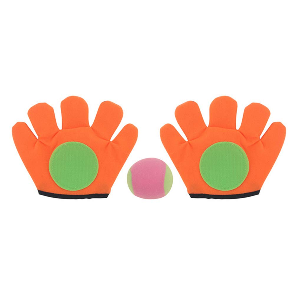 BrawljRORty Throw Ball,Outdoor Catch Toy Throw Ball Sucker Racket Sticky Gloves Children Playing Game,Outdoor Toys