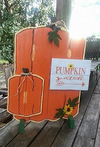 FL29 34 x 24 Rustic Custom Fall Autumn Pallet Sign, Pumpkin Patch